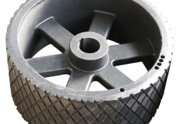 Rubberized drive pulleys